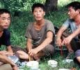 Pranzo nei pressi della Tomba di King Kongmin. Corea del Nord. Ph. Silvia Dogliani