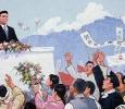 Dipinti di propaganda, Pyongyang, Corea del Nord. Ph. Silvia Dogliani