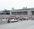 Parate militari in Piazza Kim Il Sung. Pyongyang, Corea del Nord. Ph. Silvia Dogliani