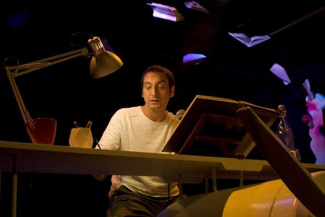 Corrado D'Elia è Don Chisciotte. Ph. Angelo Redaelli, Teatro Libero 2011
