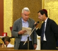 Il filosofo della scienza Giulio Giorello e Daniele Cohen, assessore alla Cultura della Comunita ebraica di Milano. Ph. Angelo Redaelli ©