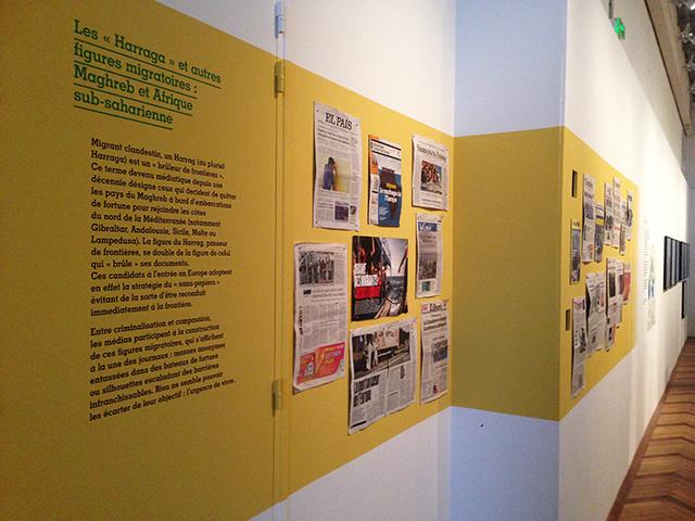 Frontières, exhibition at Musée de l'histoire de l'immigration. April 2016, Paris. Ph. Silvia Dogliani