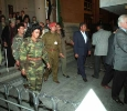 Departure of Muammar Gaddafi from the Egyptian Museum, Cairo. March 1999. Ph. Norbert Schiller