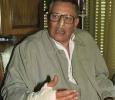 Egypt's Minister of Information, Safwat el-Sharif speaks to the press after surviving an assassination attempt. 20th of April 1993. Ph. Norbert Schiller