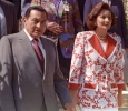 President Mubarak and his wife, Susanne, going to a voting station during Presidential elections. The only candidate on the ballot is Mubarak. 4th of Oct 1993. Ph. Norbert Schiller