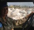 Soldato italiano al volante di un mezzo Unifil, Libano. Ph. Silvia Dogliani