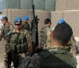Posto di caricamento e scaricamento arma di reparto. Base di Tibnin, Libano. Ph. Silvia Dogliani
