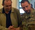 Tenente Colonnello Greco con il sindaco di Naqoura, Libano. Ph. Silvia Dogliani