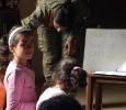 Lezioni di italiano all'orfanotrofio di Tibnin, Libano. Ph. Silvia Dogliani