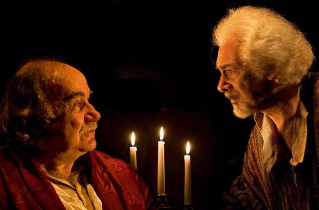 Antonio Salines ed Elio Aldrighetti in 'Serata d'onore', Teatro Carcano, Milano 10/2010. Ph. Angelo Redaelli ©