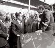 Mubarak attending the Cairo International Trade Fair in 1987. Ph. Norbert Schiller