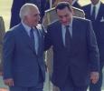 Jordan's King Hussein arrives in Cairo to attend an Arab Summit, June 1996. Ph. Norbert Schiller
