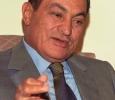 Egyptian President, Hosni Mubarak, speaking with a foreign journalist, September 1996. Ph. Norbert Schiller