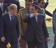 Syrian President Hafez al Assad arrives in Cairo to attend an Arab Summit, June 1996. Ph. Norbert Schiller