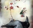 Raven life, illustration by Natalie Pudalov