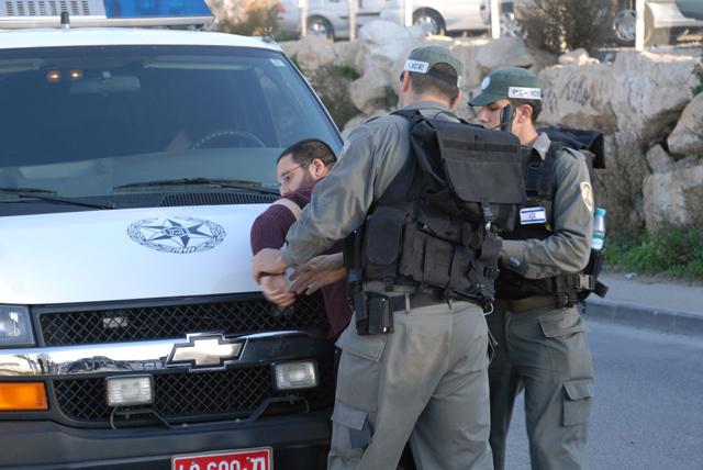 Arresti a Sheikh Jarrah, Gerusalemme est. Ph. Silvia Dogliani