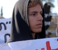 Dimostrante a Sheikh Jarrah, Gerusalemme est. Ph. Silvia Dogliani