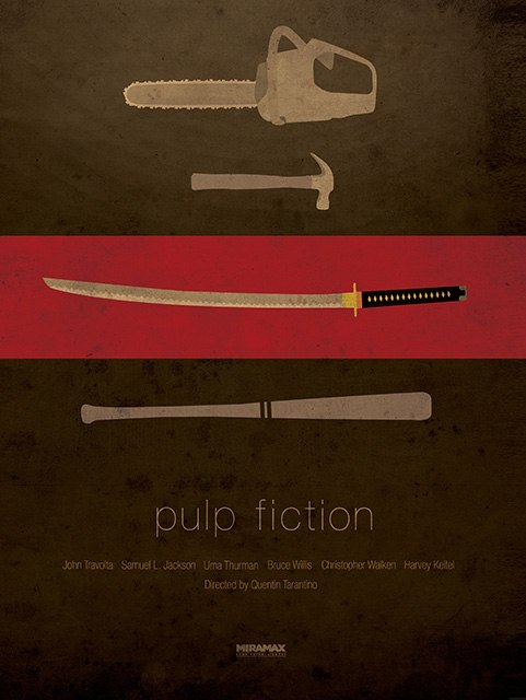Pulpfiction. Illustration by Ibraheem Youssef