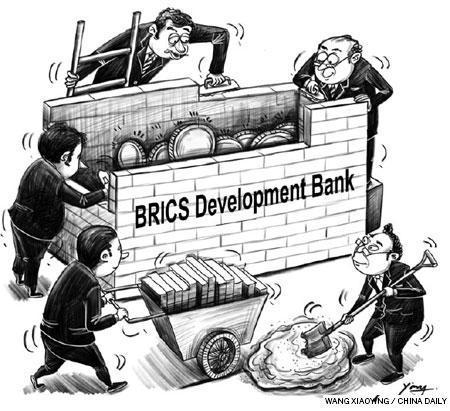 Brics vignetta di Wang Xiaoing @ China Daily