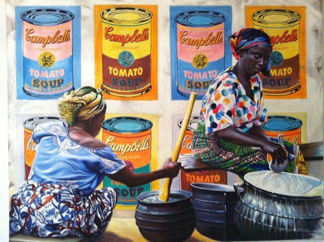 5 Campbell's soup, olio su tela cm 120 x150 2012