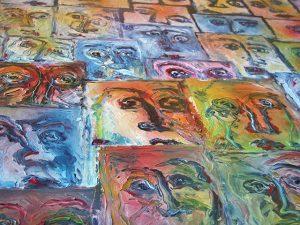 4_particolare Ritratti nel Mediterraneo, 200 x 180, olio su legno_Luciano Bonetti_640